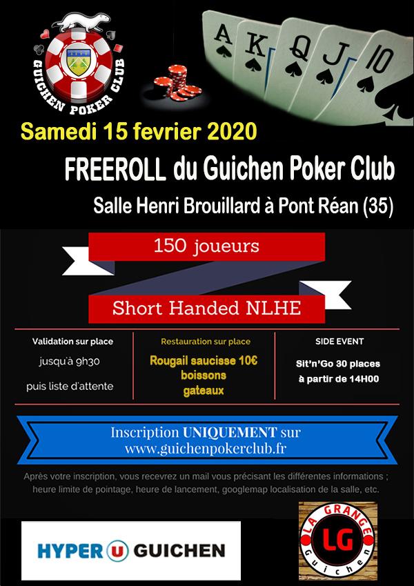 Freeroll du 15 fevrier 2020